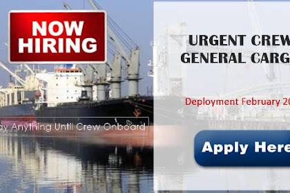Able Seaman, Cook, Chief Engineer For General Cargo Ship
