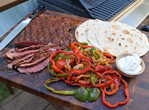 Quick and easy recipe for steak fajitas.