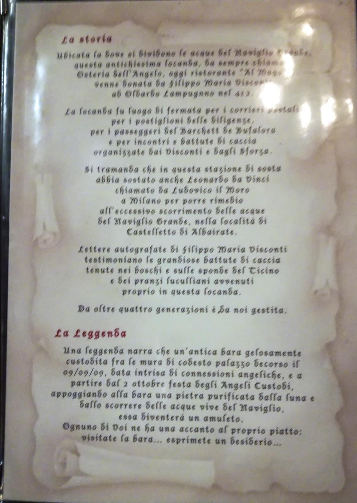 Menu e Prezzi: Ristorante AL MAGO - Frazione Castelletto 27 ...