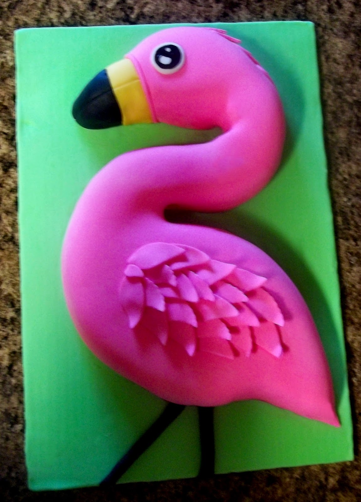 Covered In Crafts The Flamingo Cake