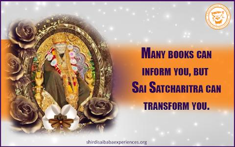 Sai Satcharitra - Sai Baba On Golden Throne Image