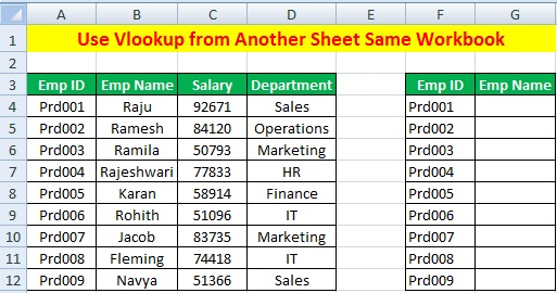 Use Vlookup Formula to Another Sheet and Workbook in Excel