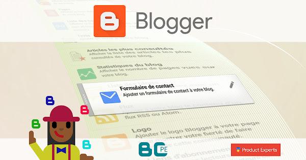 Blogger - Fiche technique du gadget ContactForm