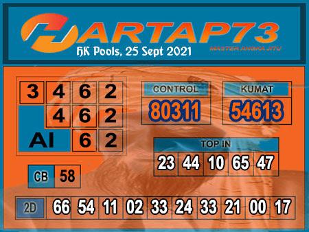 Hartap73 HK Sabtu 25 September 2021 -