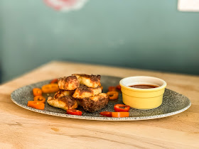 Air Fried Halloumi Fries recipe, Mandy Charlton, photographer, writer, blogger, food