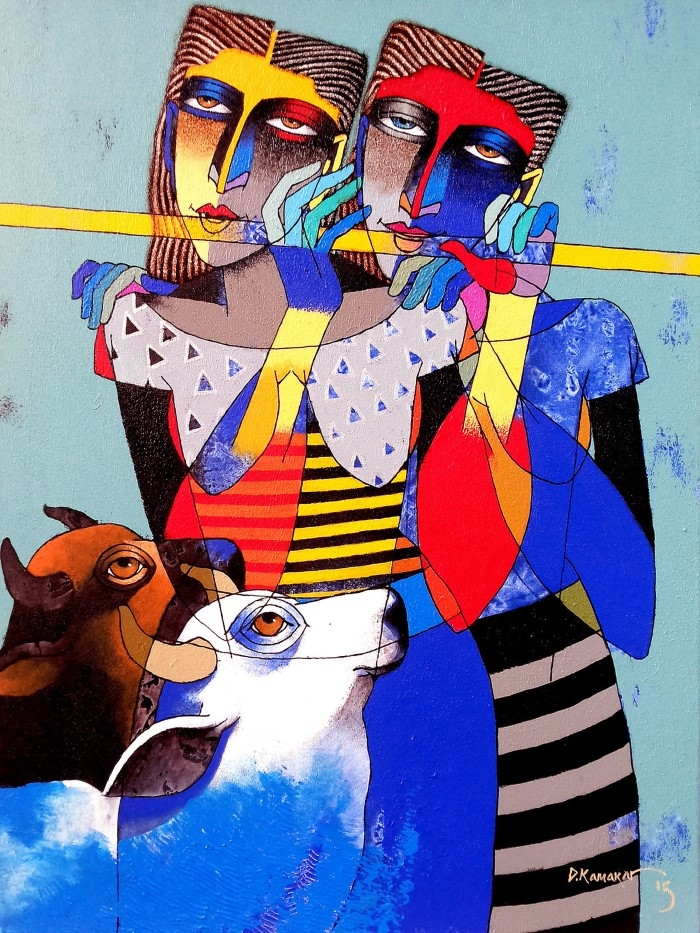 Индийский художник. Dayanand Kamakar