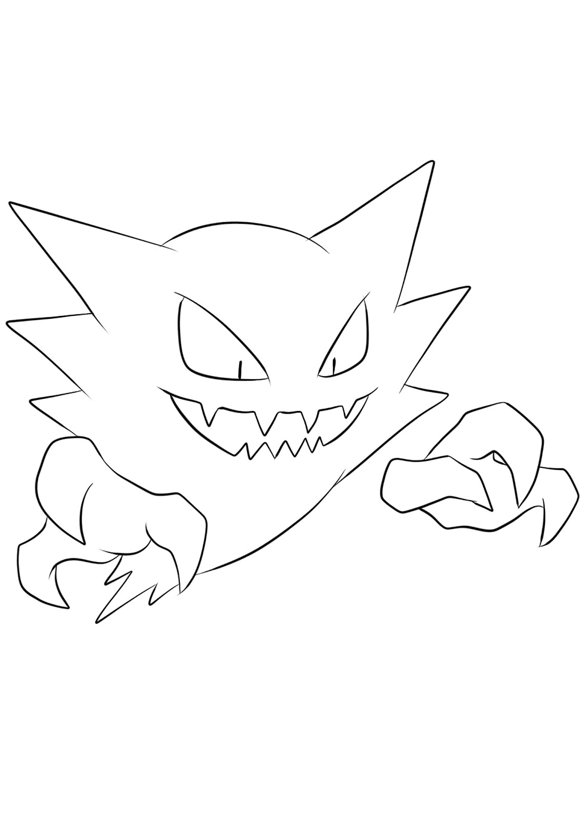 Pokemon Haunter Coloring Pages Printable Free Download Free Pokemon Coloring Pages