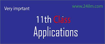 English Applications 11th Class