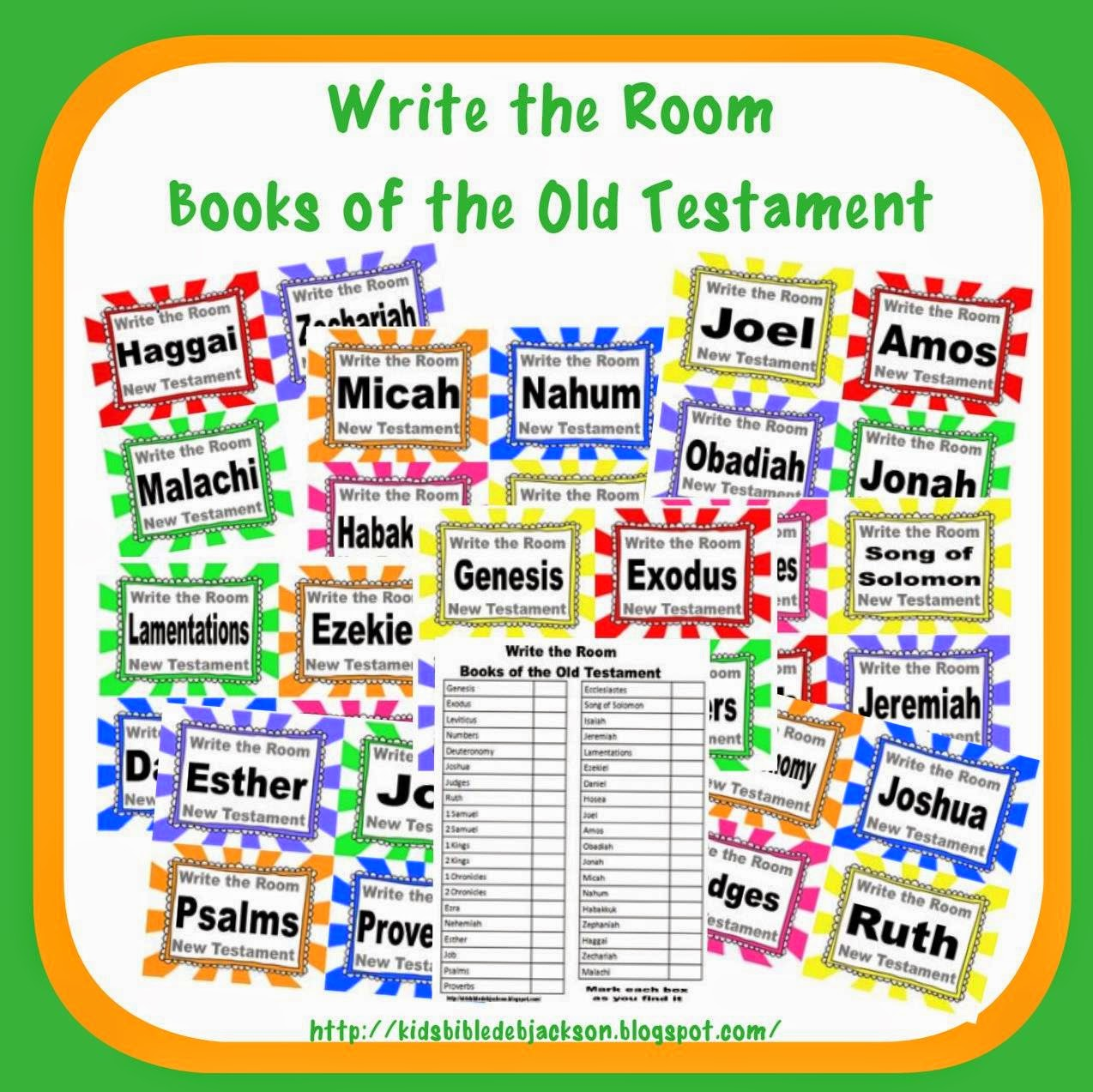Bible Fun For Kids Write The Room Books Of The Bible