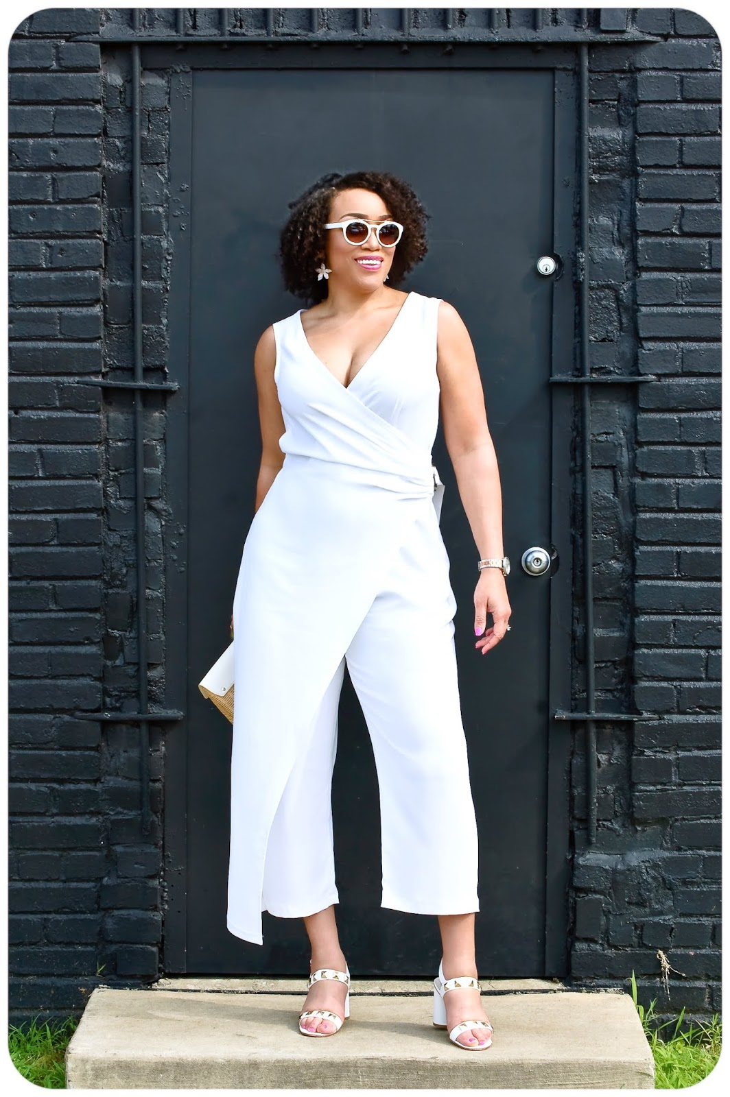 McCall's 7953 - White Crepe Wrap Jumpsuit - Erica Bunker DIY Style!