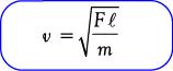 Rumus kecepatan gelombang pada dawai/senar