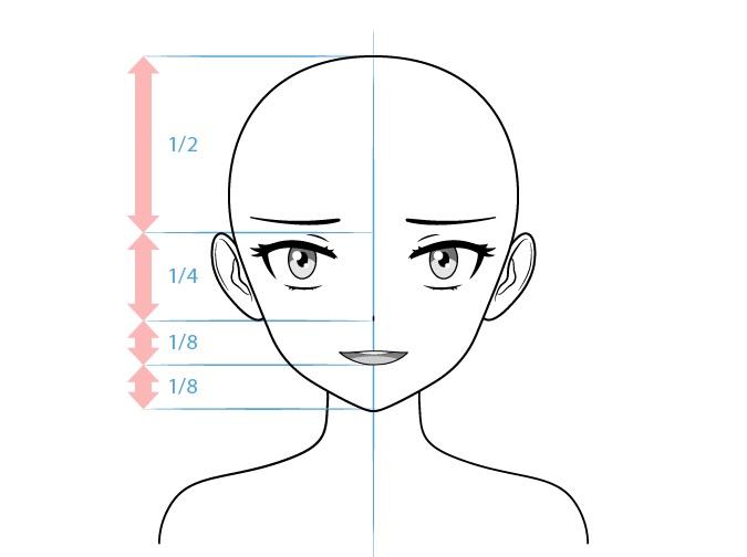 Anime nakal karakter perempuan pengganggu menggambar wajah