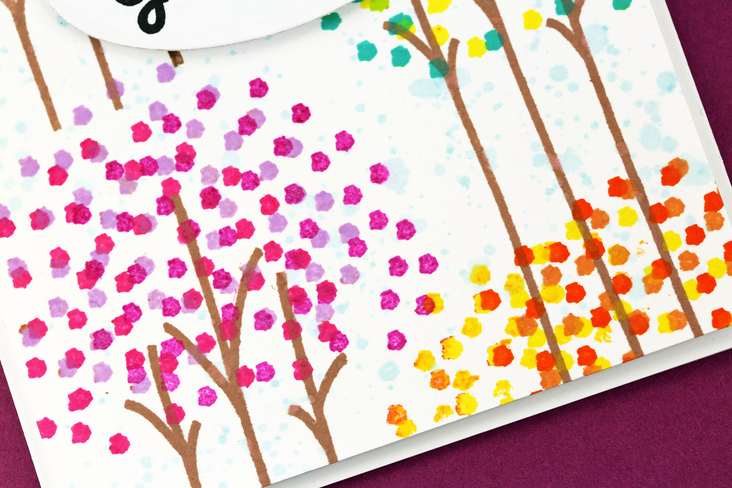 A kept life cas ual fridays thanksgiving greetings i stamped a background of colorful leaves and trees from the cas ual fridays calm and gentle stamp set i tried different ways of stamping the leaves and kristyandbryce Images