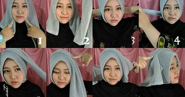 Hijab Paris Segi Empat Elegan - Hijab Top Tips