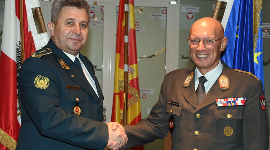 Austrian Armed Forces chief visits Macedonia