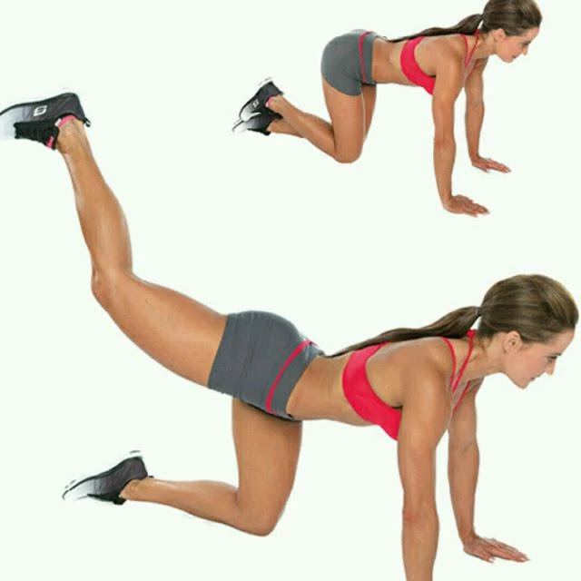 Donkey Kick - exercises that target glutes