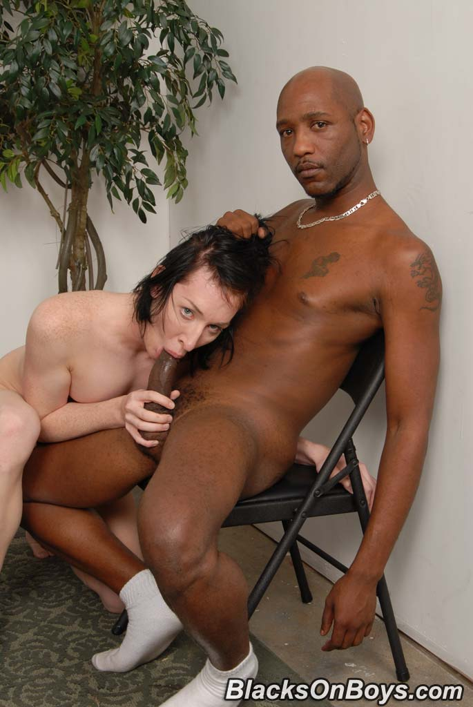 image Lucky stud gets his cock sucked by two horny whores then fucks