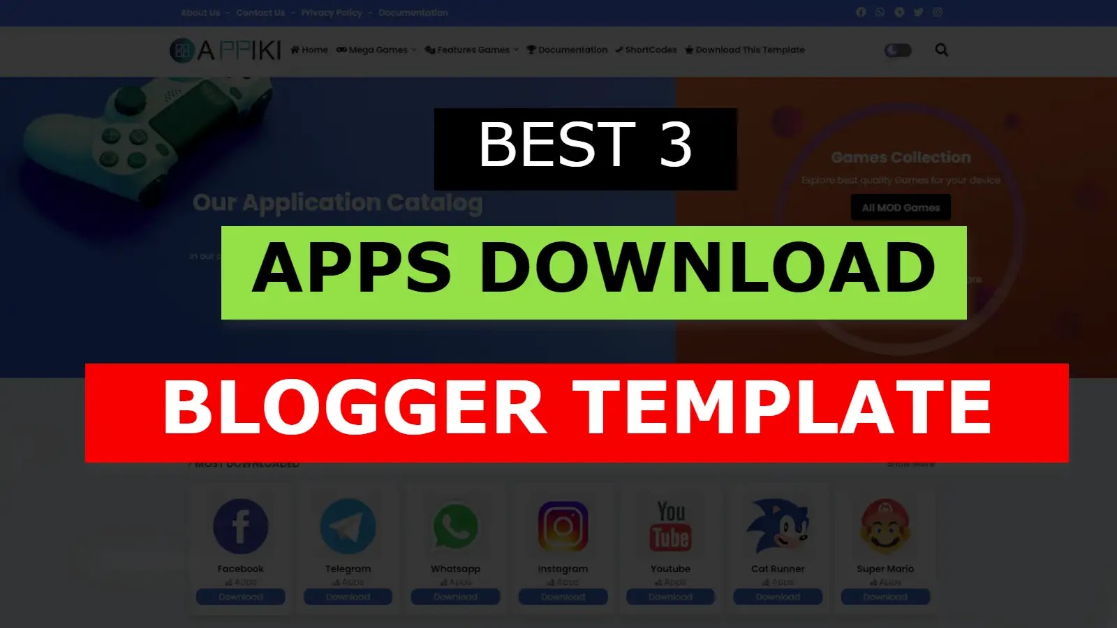 Play store Blogger Template: Apps Download Blogger Theme