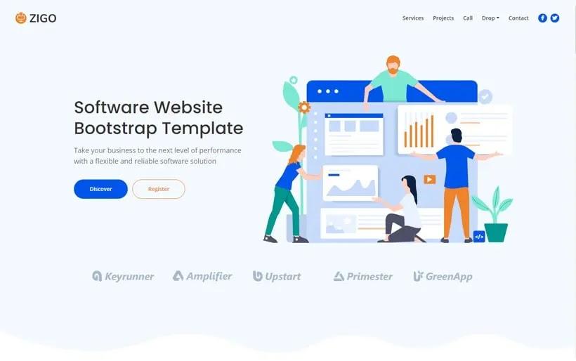 Zigo - Software Business Website Bootstrap HTML Template