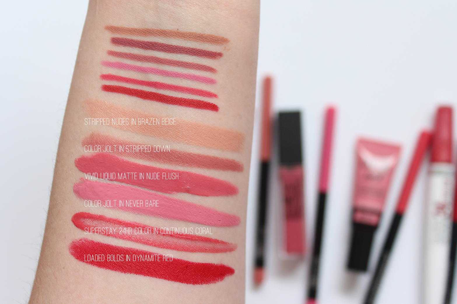 MAYBELLINE | Color Sensational Shaping Lip Liners - Review + Swatches - CassandraMyee