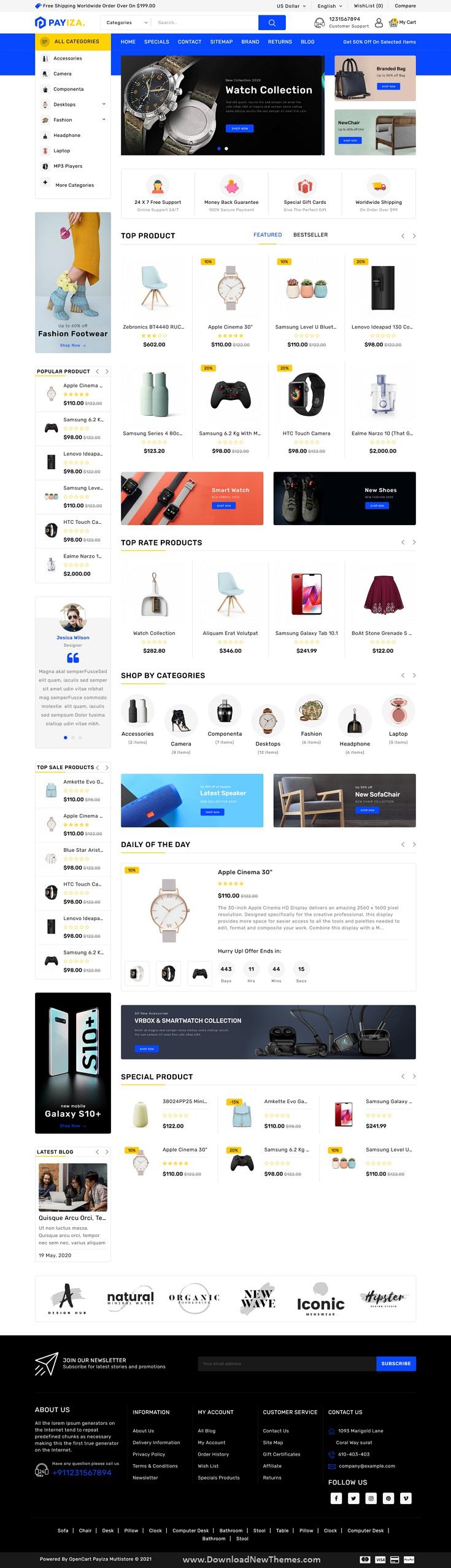 eCommerce OpenCart Theme