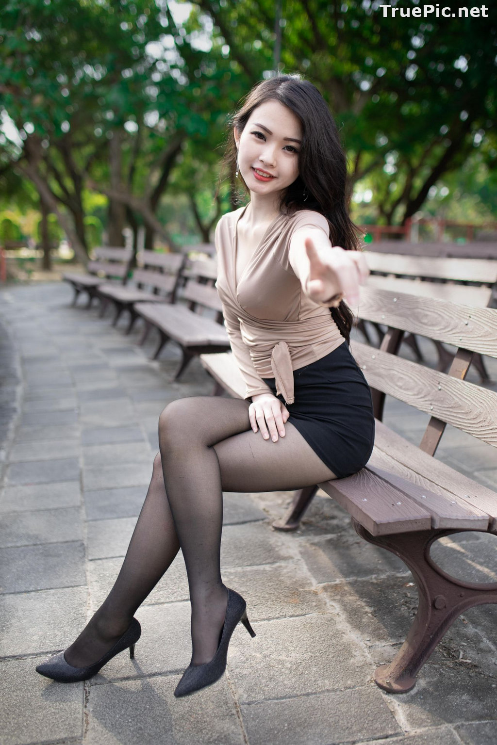 Image Taiwanese Model - 杨宓凌 - Concept The Office Girl - TruePic.net - Picture-1