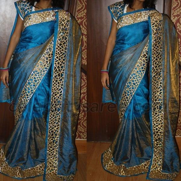 e2884b91c642d Cut Work Border Designer Sarees - Saree Blouse Patterns
