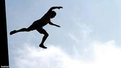 Oknum Polisi Lompat dari Fly Over Jamin Ginting