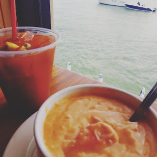 Put in Bay restaurants, seafood, lobster bisque, bloody mary bar