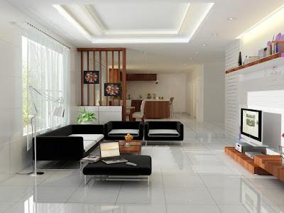 phòng khách chung cư nhỏ với tông màu sáng
