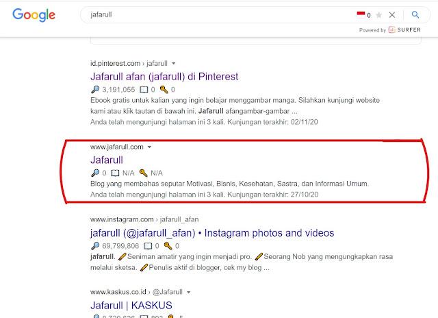 Masukkan Kata Kunci di Sini untuk mencari situs jafarull.com di pencarian google