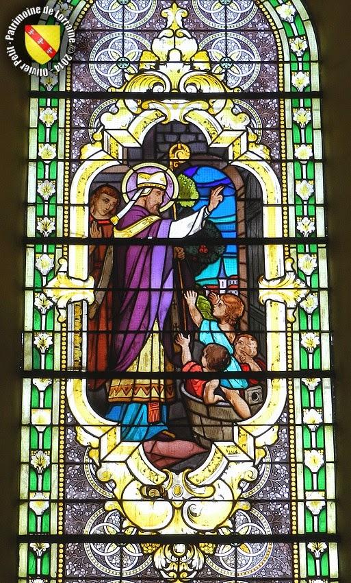 Saint-Nicolas (XIXe siècle) - Vitrail - Église de Velaines (55)