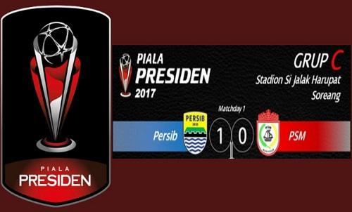Persib vs PSM Makassr hasil skor 1-0