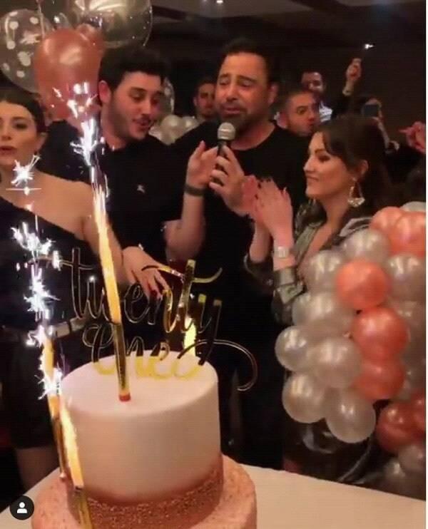 عاصي الحلاني يحتفل بعيد ميلاد ابنته الصغرى دانا