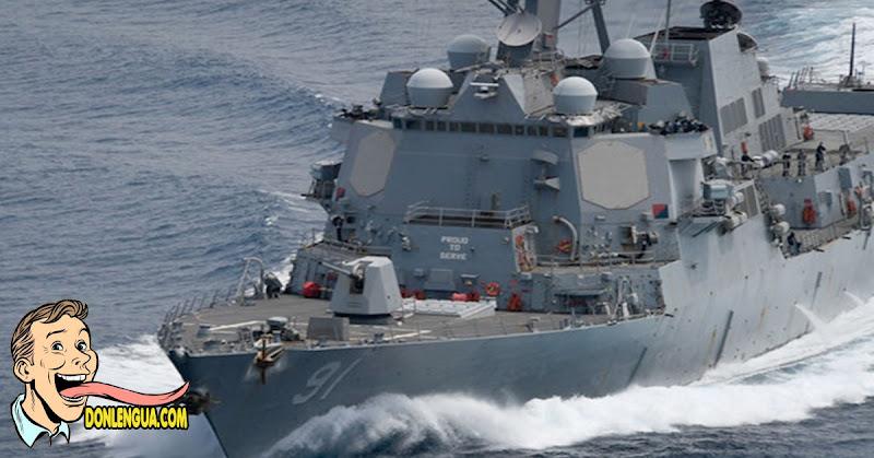PURO ASUSTAR   Destructor del Comando Sur se pasea por el Caribe