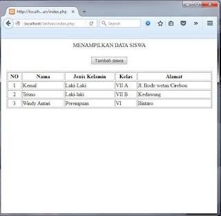 Cara membuat form input untuk Menambahkan data ke tabel di database menggunakan php dan html