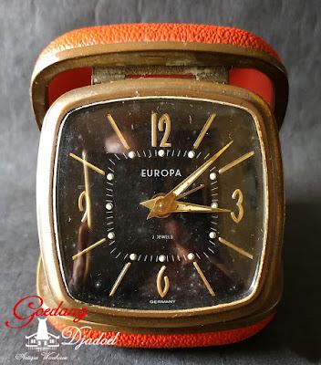 vintage europa german alarm travel clock