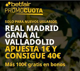 betfair promocuota Real Madrid gana Valladolid 20 febrero 2021