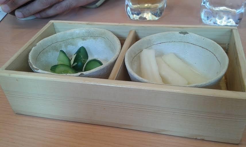 Sides and pickles at Saboten