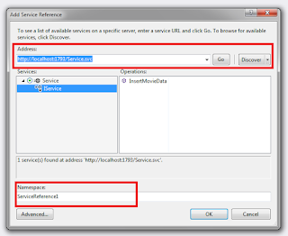 How to insert record into Sql Server database using WCF service
