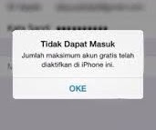 maximum number of free account have been activated on this iphone Mengatasi maximum number of free account have been activated on this iphone dengan sangat mudah