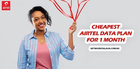 airtel data plans for 1 month