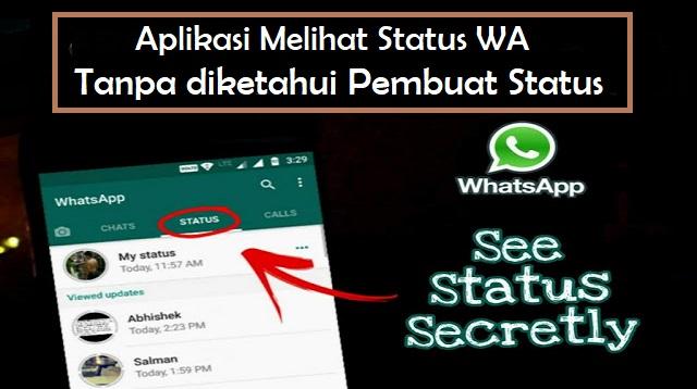 Aplikasi Melihat Status WA Tanpa diketahui Pembuat Status