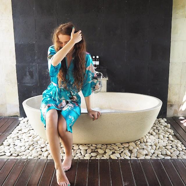 Bali outdoor bath