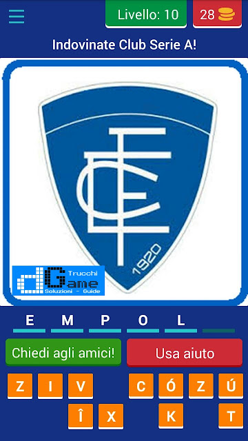 Calcio Italiano - Logo Quiz soluzione livello 1 2 3 4 5 6 7 8 9 10 | Parola e foto