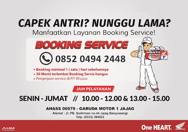 Layanan Ahass Banyuwangi Booking Service