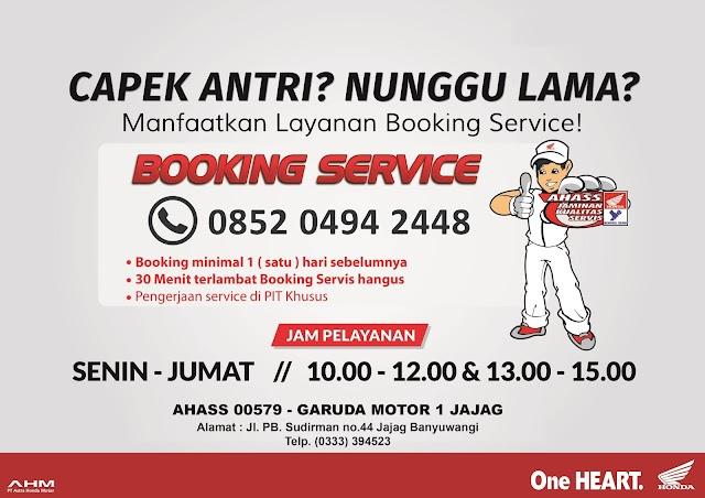 Layanan Booking Service Ahass Honda Banyuwangi
