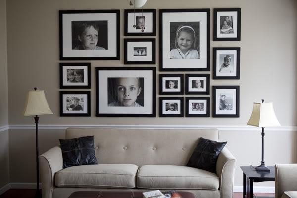 Fantastic Photo Arrangement Ideas For Wall Festooning