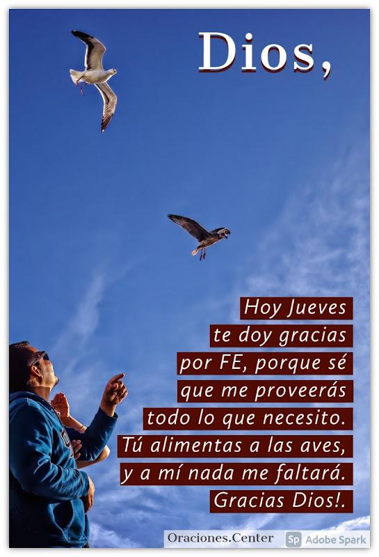 Oración para el Día Jueves para que nada te falte