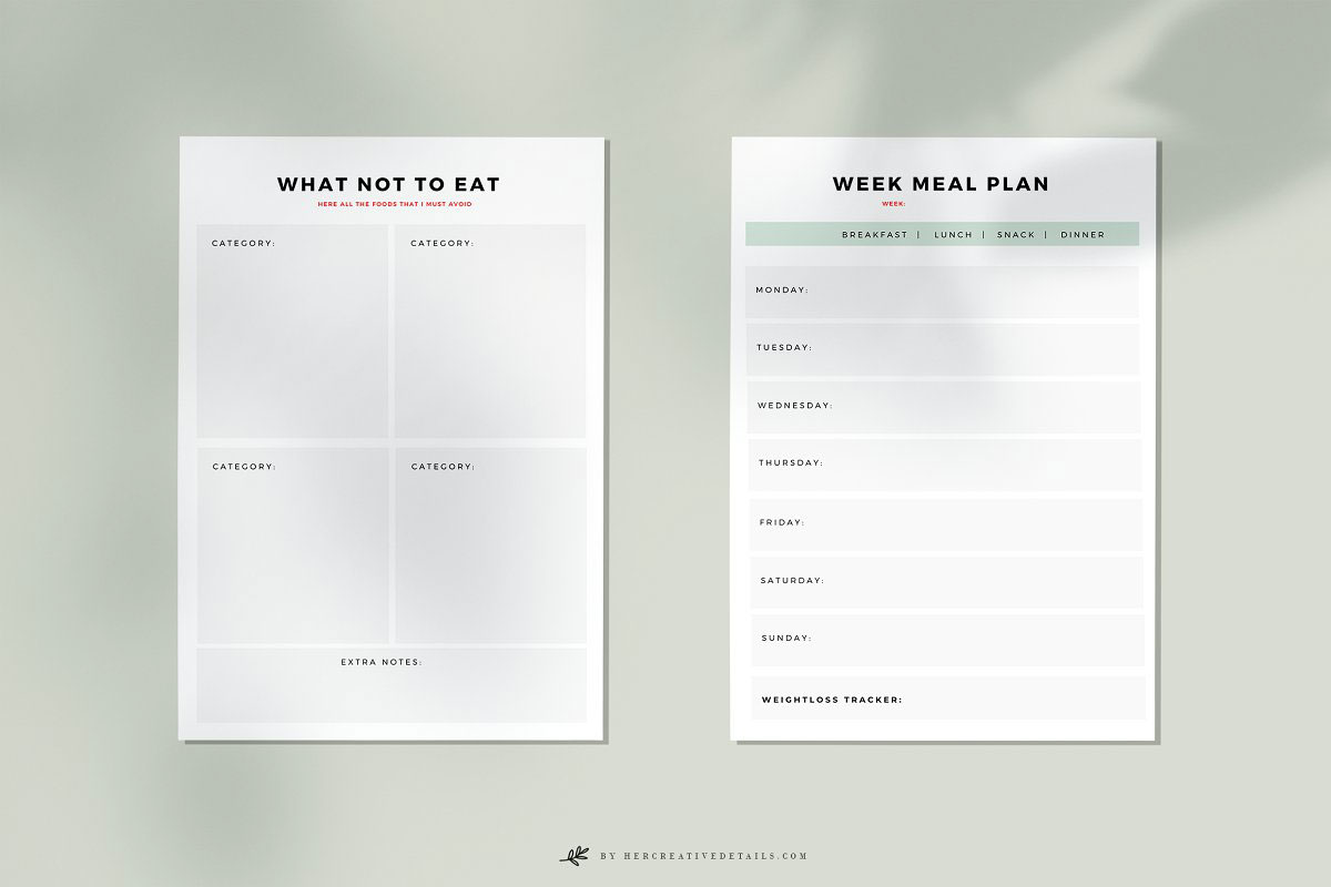Weekly Meal Plan   Printable 4969261